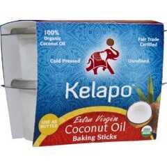 Kelapo Extra Virgin Sticks Fair Trade Coconut Oil (6x8 Oz)