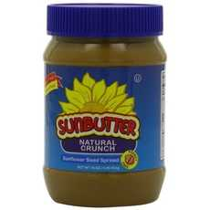 Sunbutter Natural Crunch Sunflower Seed Spread (6x16Oz)