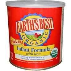 Earth's Best Organic Infant Formula With Iron, Dha & Ara (4x23.2Oz)