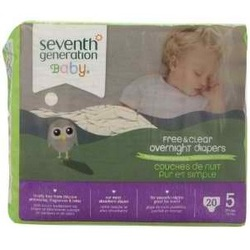 Seventh Generation 7 Gen Diapers Overnite S5 2000 ct (4x20 CT)