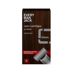 Every Man Jack Razor Cartridge Sensitive 4Pk (1x4CT)