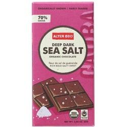Alter Eco Deep Dark Sea Salt Organic Chocolate (12x2.82 OZ)