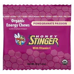Honey Stinger Organic Pomegranate Passionfruit Chews  (12x1.8 OZ)
