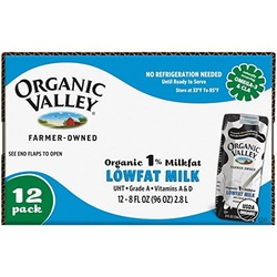 Organic Valley  O.V. Low Fat Milk Aseptic (1X12 Pack)