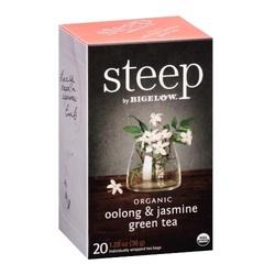 Bigelow Steep Organic Oolong & Jasmine Green Tea (6x20 BAG )