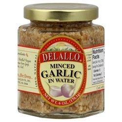 Delallo Garlic Minced In Water (1x6 OZ)