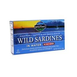 Wild Planet Sardines No Salt in Water (12x4.37 OZ)