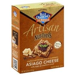 Blue Diamond Artisan Nut Thins Asiago Cheese (12x4.25 OZ)