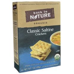 Back To Nature Organic Classic Saltine Crackers  (6x7 OZ)
