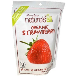 Nature's All Foods Frz Drd Straw (12x1.2OZ )
