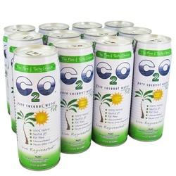 C2O Pure Coconut Water W/Pulp (12x17.5OZ )