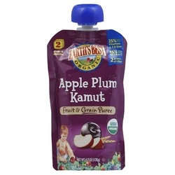 Earth's Best Baby Foods Apple/Plum/Kamut (12x4.2OZ )