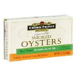 Crown Prince Smoked Oysters W/Oo (18x3OZ )