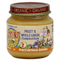 Earth's Best Baby Foods Baby Pch/Oat/Ban (12x4OZ )