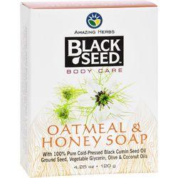 Black Seed Bar Soap  Oatmeal and Honey  4.25 oz
