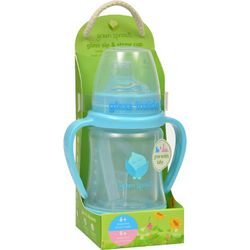 Green Sprouts Cup  Sip N Straw  Glass  6 Months Plus  Aqua  1 Count