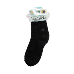 Earth Therapeutics Moisturizing Aloe Socks Black (1 Pair)