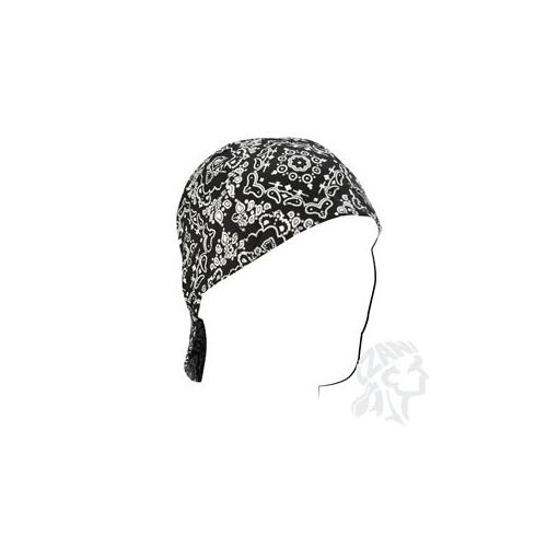 Welders Cap, Cotton, Black Paisley, Size 7.5