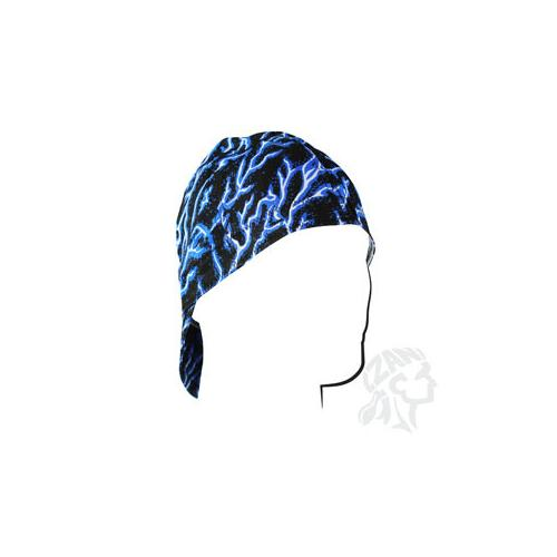 Welders Cap, Cotton, Blue Lightning, Size 7.5