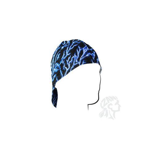 Welders Cap, Cotton, Blue Lightning, Size 7.25
