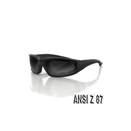 Foamerz 2 Sunglass, Blk Frame, Anti-fog Smoked, ANSI Z87