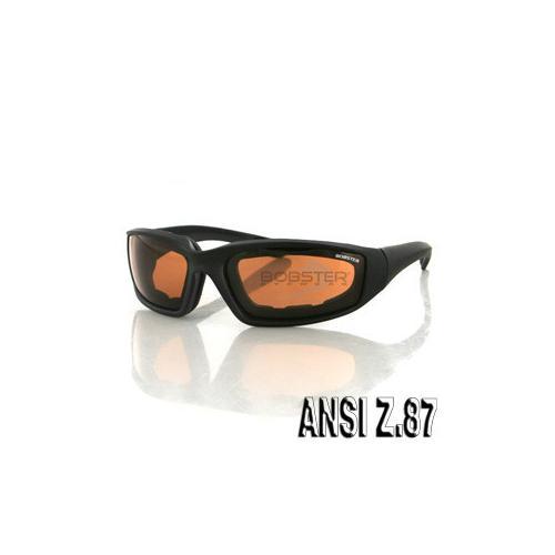 Foamerz 2 Sunglass, Blk Frame, Anti-fog Amber, ANSI Z87