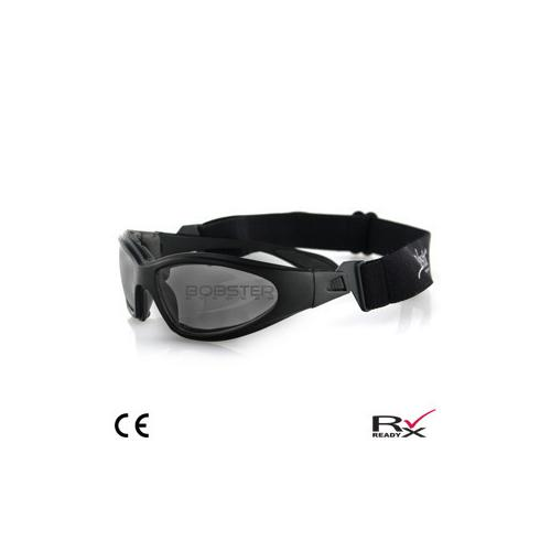 GXR Sunglass, Black Frame, Anti-fog Smoked Lenses