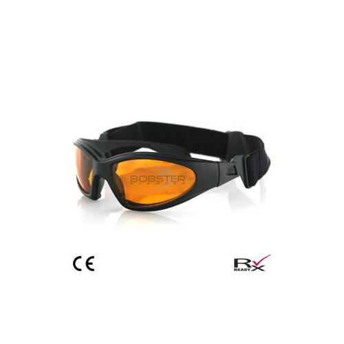 GXR Sunglass, Black Frame, Anti-fog Amber Lenses