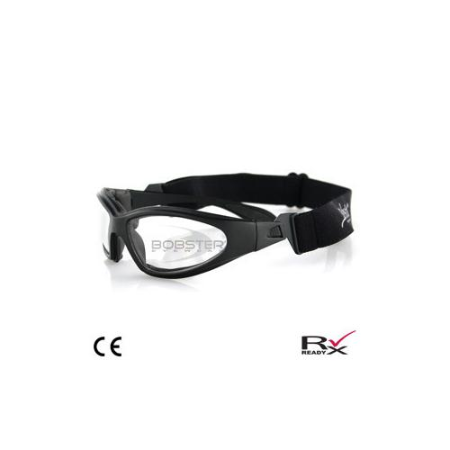 GXR Sunglass, Black Frame, Anti-fog Clear Lenses
