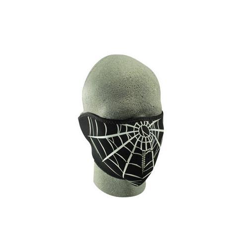 Half Mask, Neoprene, Spider Web