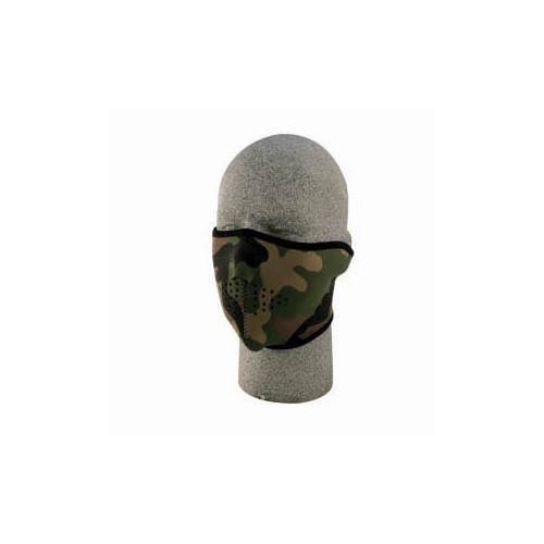 Half Mask, Neoprene, Woodland Camo