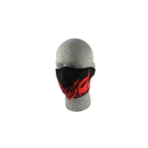 Half Mask, Neoprene, Red Flames