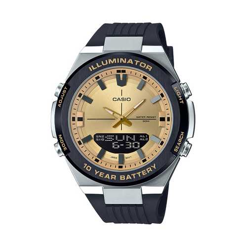 Casio Long Life Metal Series 10 year Battery Life With Resin Band