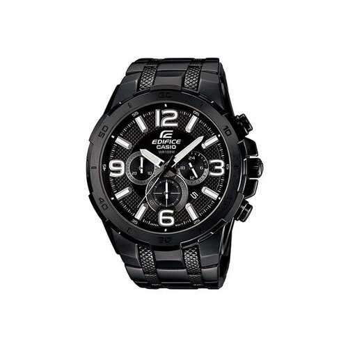 Casio Edifice Black Chrono Stainless Steel Watch