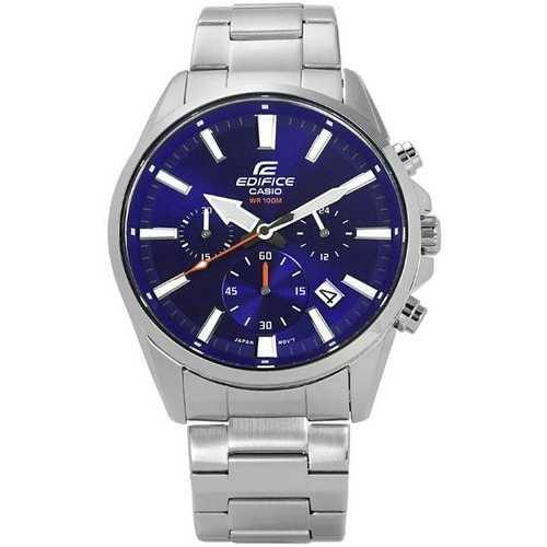 Casio Men's 'Edifice' Quartz Stainless Steel Casual Watch, Color Blue (Model: EFV-510D-2AVCF)