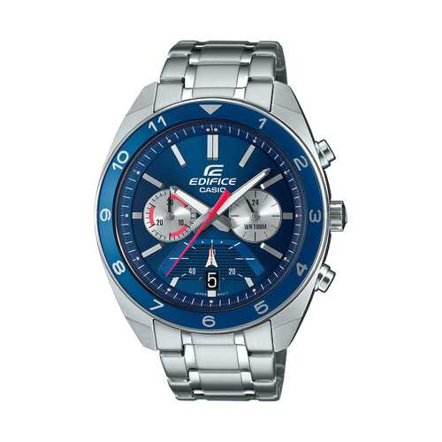 Casio Edifice Blue Chronograph Dial Stainless Steel Watch
