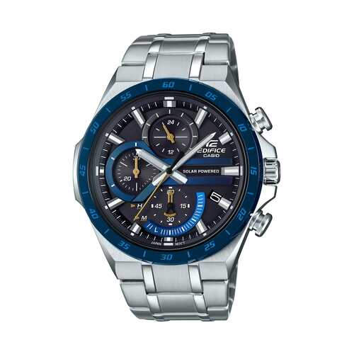 Casio Edifice Black Chronograph Dial Stainless Steel Watch