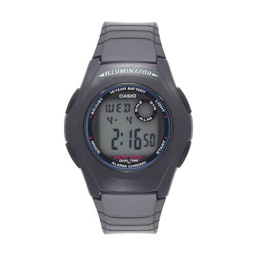Casio Men's 'Classic' Quartz Resin Casual Watch, Color:Black (Model: F-200W-1ACF)