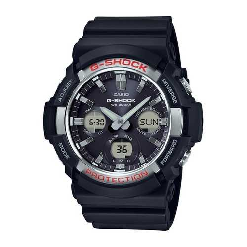 Casio Men's 'G SHOCK' Quartz Resin Casual Watch, Color Black (Model: GAS-100-1ACR)