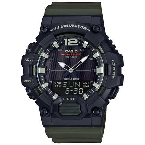 Casio Men's 'Classic' Quartz Resin Casual Watch, Color Green (Model: HDC-700-3AVCF)