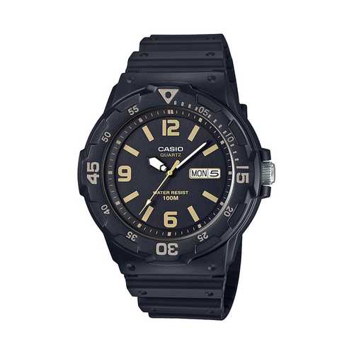 Casio Men's 'Classic' Quartz Resin Casual Watch, Color Black (Model: MRW-200H-1B3VCF)