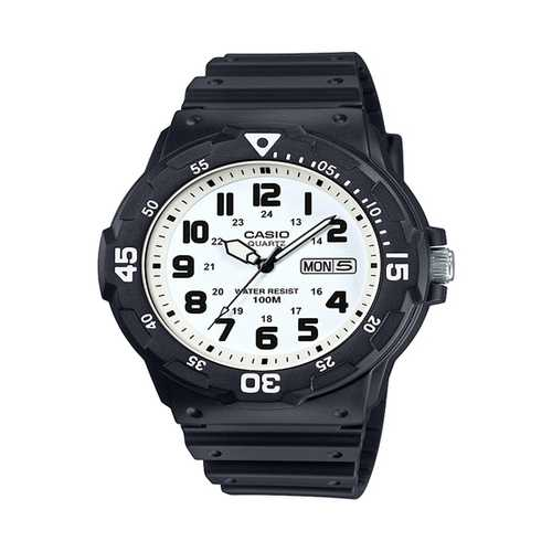 Casio Men's 'Classic' Quartz Resin Watch, Color Black (Model: MRW200H-7BV)