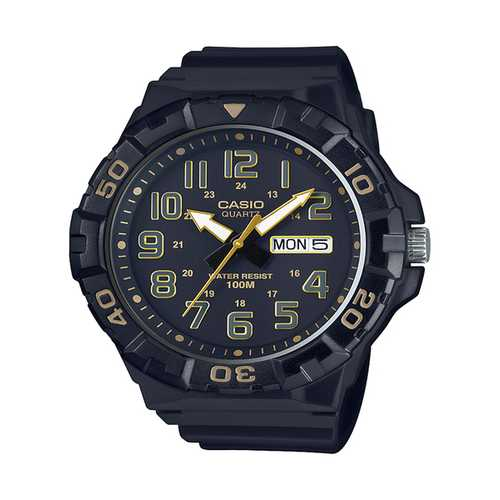 Casio Men's 'Diver Style' Quartz Resin Casual Watch, Color Black (Model: MRW-210H-1A2VCF)
