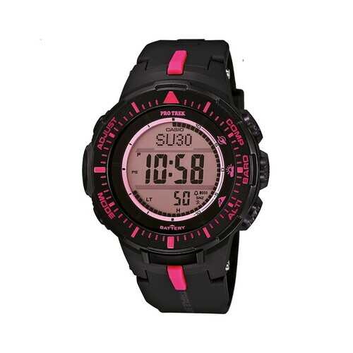 Casio PRO Trek Quartz Watch with Resin Strap, Black, 18 (Model: PRG-300-1A4ER)