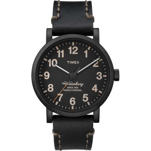 Timex TW2P59000 Waterbury 40mm Leather Strap Watch