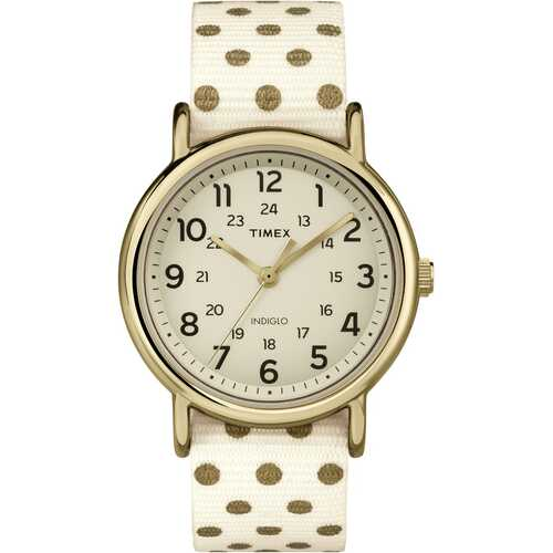 Timex TW2P66100 Weekender   Dotted Fabric Strap Watch
