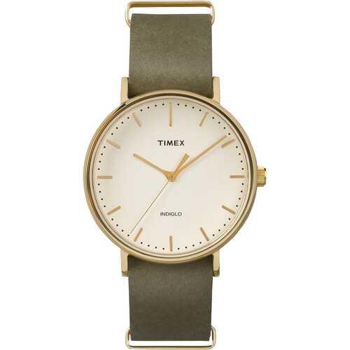 Timex TW2P98000 Fairfield Slip-Thru 41mm Leather Strap Watch