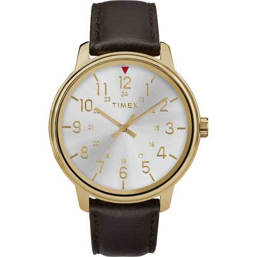 Timex TW2R85600 Timex Core 43mm Leather Strap Watch