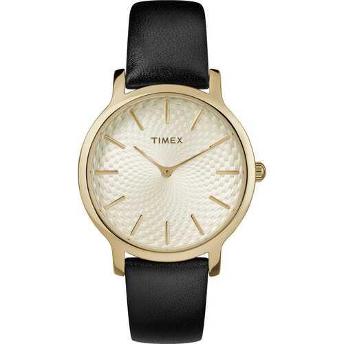 Timex TW2T29000 Metropolitan 34mm Leather Strap Watch