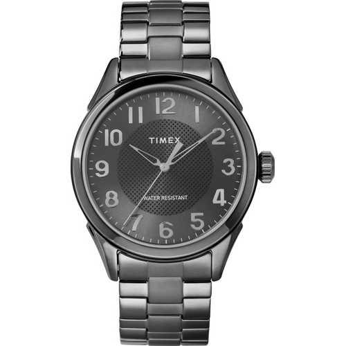 Timex Men's TW2T46000 Briarwood Black Stainless Steel Bracelet Watch